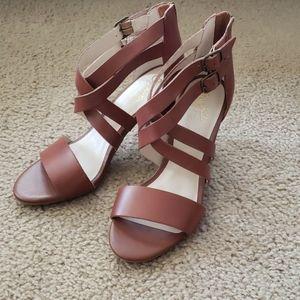Seychelles Heeled Sandals, Leather, NWOB